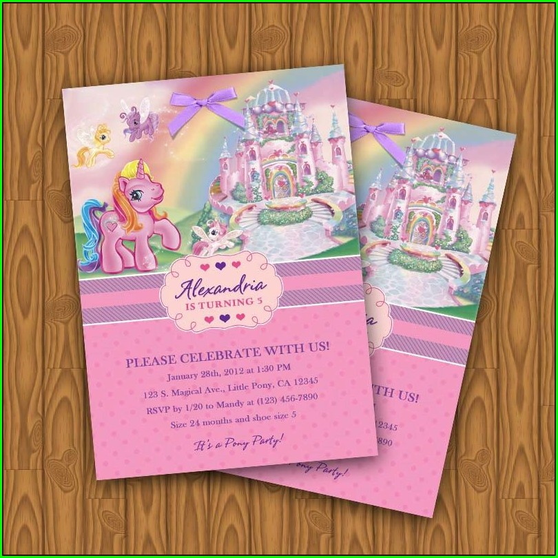 My Little Pony Invitations Diy
