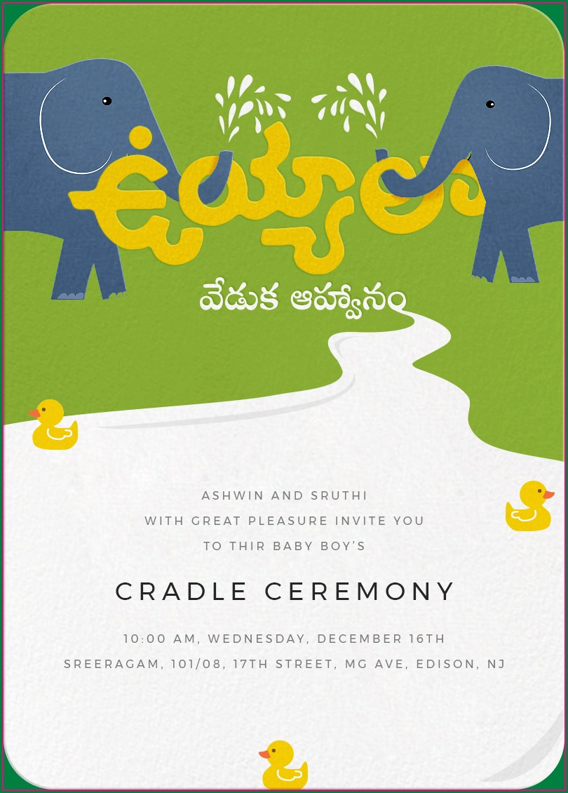 Naming Ceremony Invitation Card Design