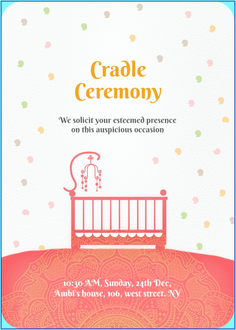 Naming Ceremony Invitation Card For Baby Boy Online