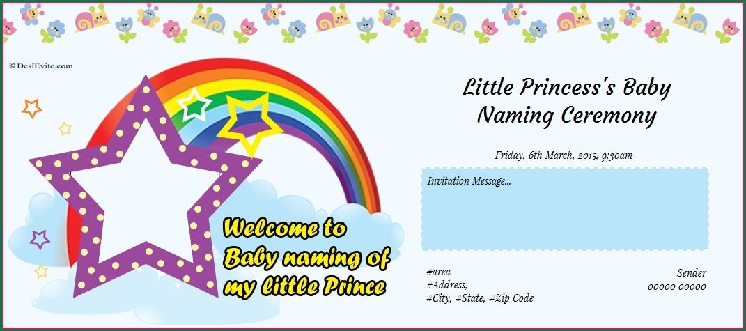 Naming Ceremony Invitation Card In Marathi Free