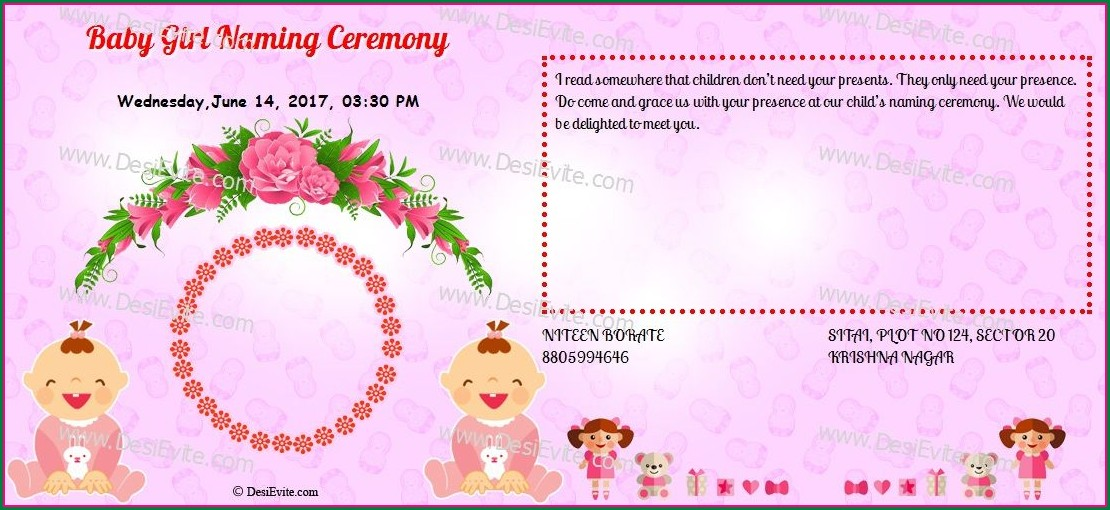 Naming Ceremony Invitation Message For Baby Boy In Marathi