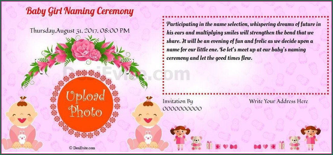 Naming Ceremony Invitation Message For Baby Boy