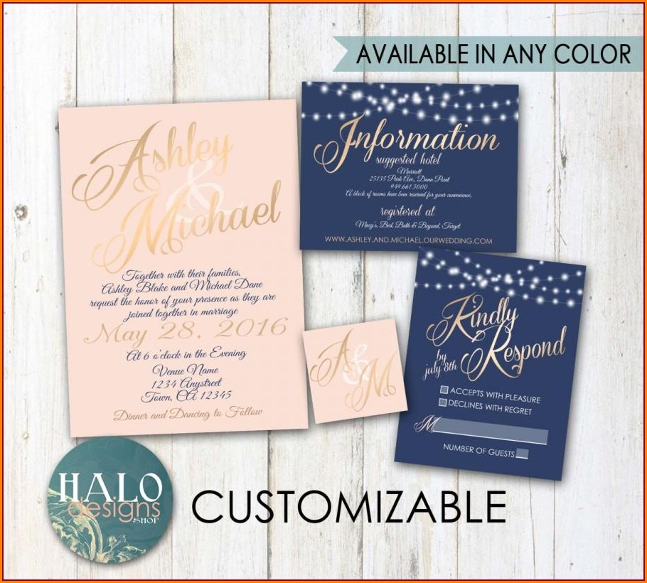Navy And Blush Wedding Invitations Uk