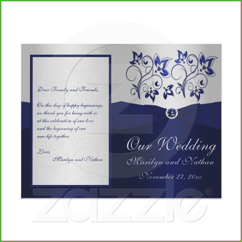 Navy And Silver Wedding Invitations Uk