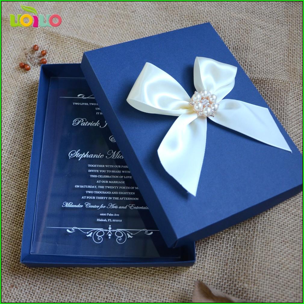 Navy Blue Invitation Card