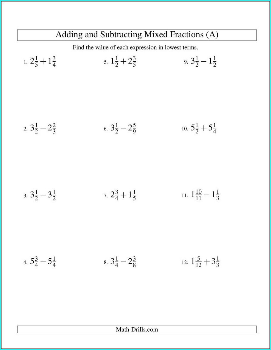 Negative Numbers Worksheet Kuta