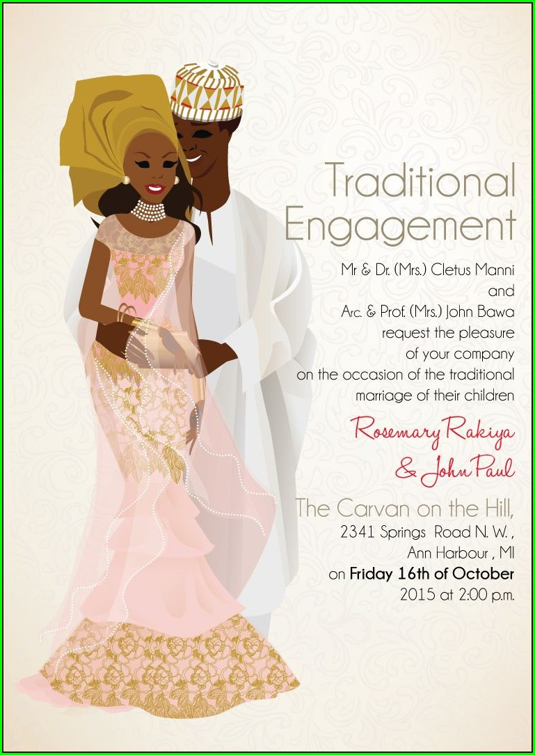 Nigerian Traditional Wedding Invitations