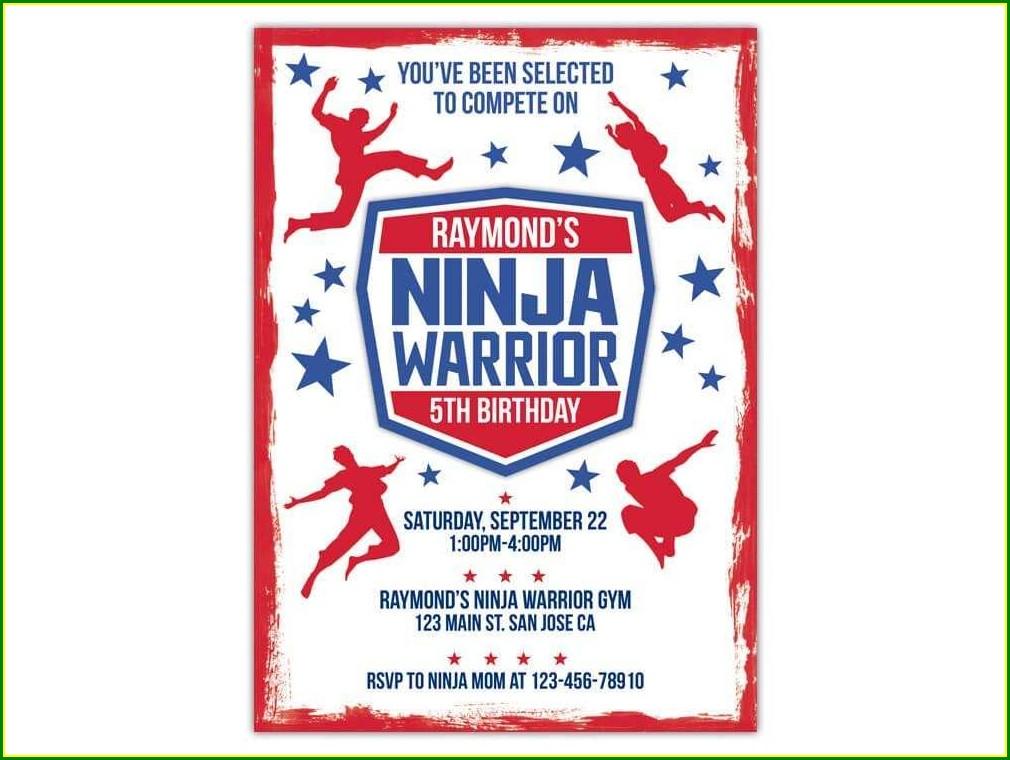 Ninja Birthday Party Invitation Template Free