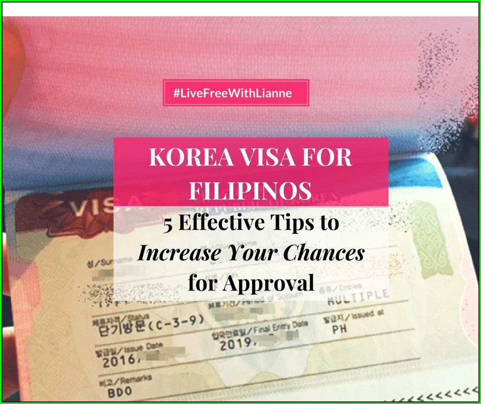 Notarized Invitation Letter For Korean Visa 2019