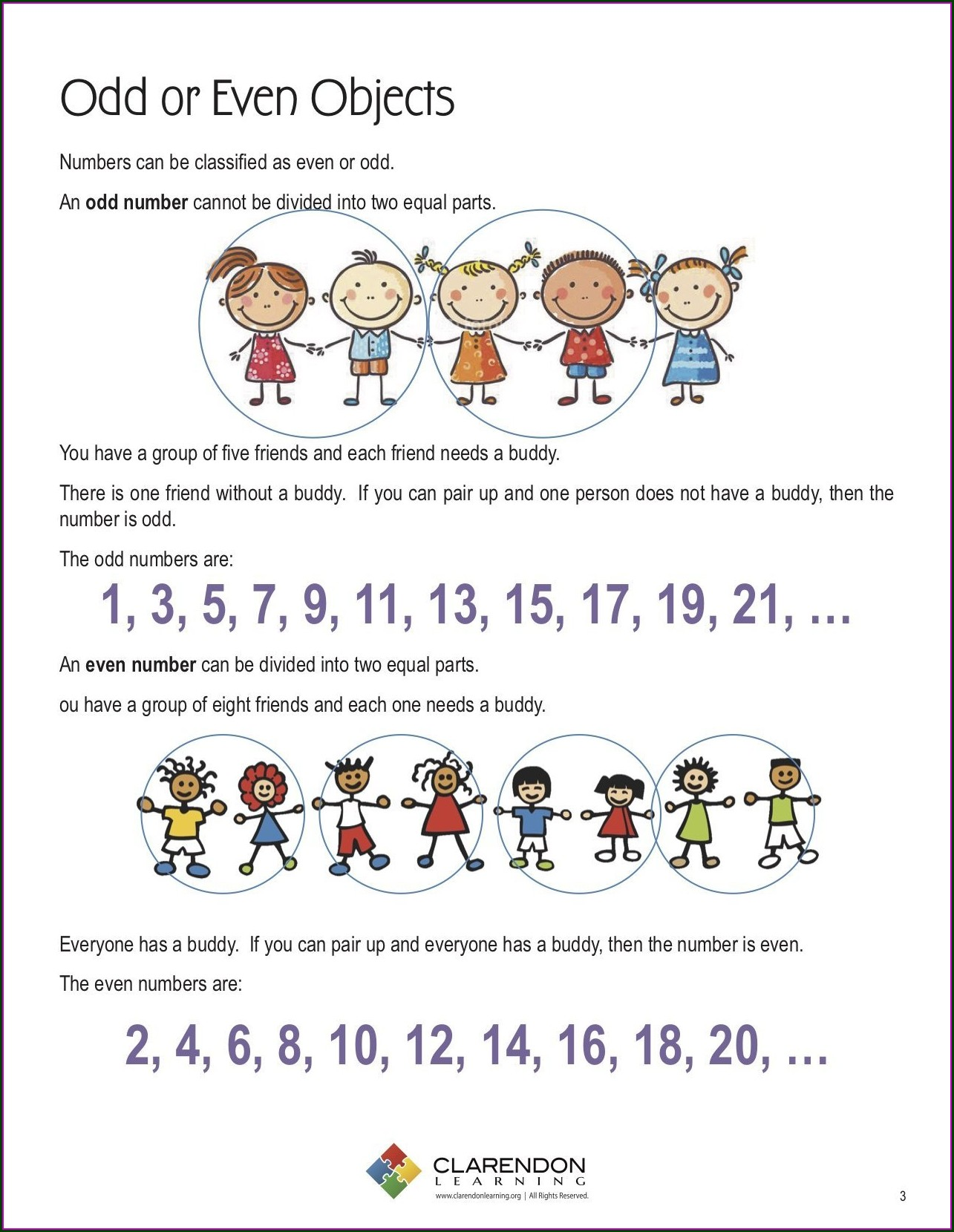 Odd And Even Numbers Worksheets 3rd Grade
