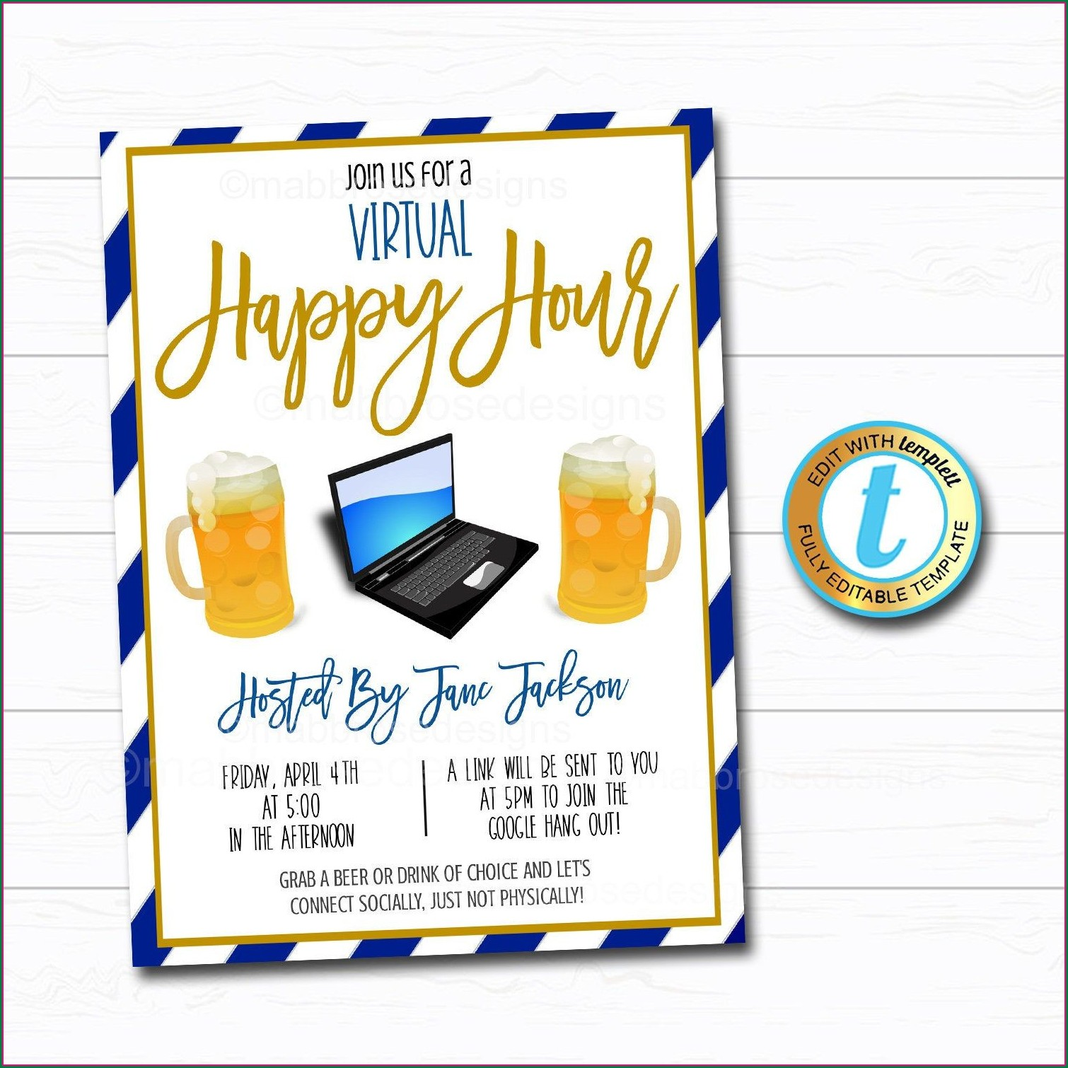 Office Happy Hour Invite Template