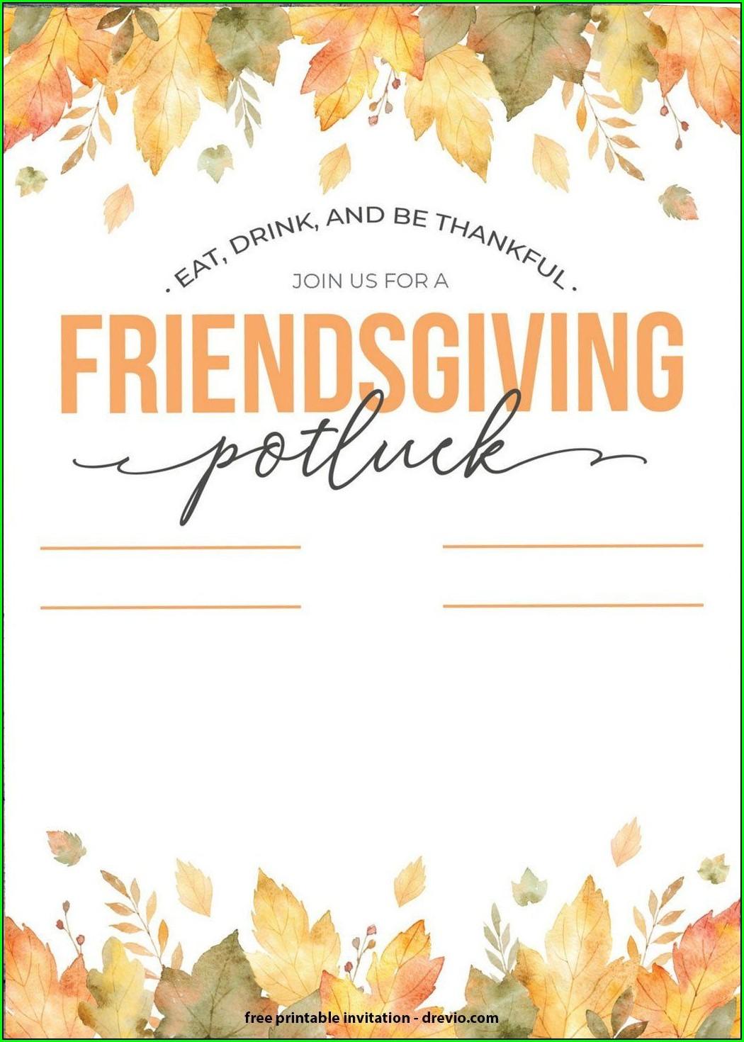 Office Thanksgiving Potluck Invitation Wording