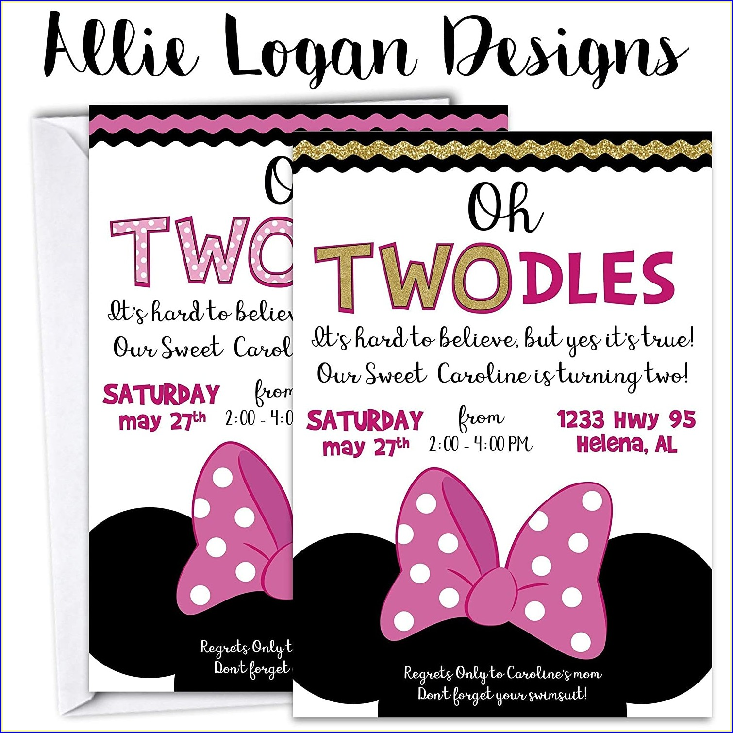 Oh Twodles Invitation Template