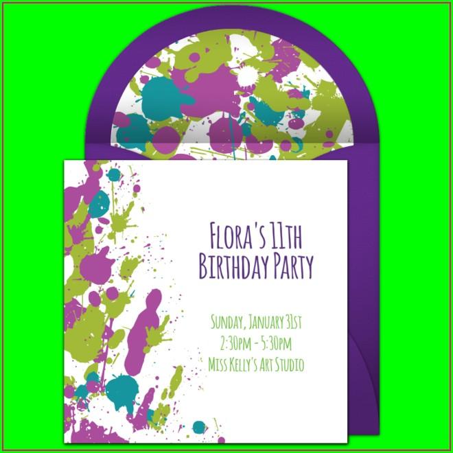 Paint Splatter Invitations Template