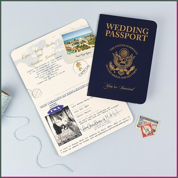 Passport Wedding Invitation Template Philippines