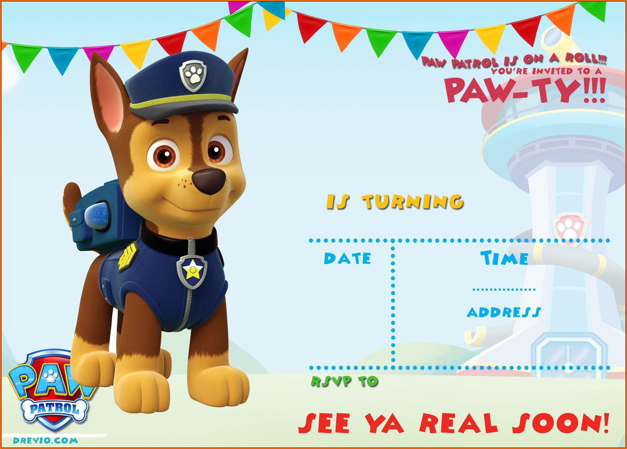 Paw Patrol Invitation Templates Free Download