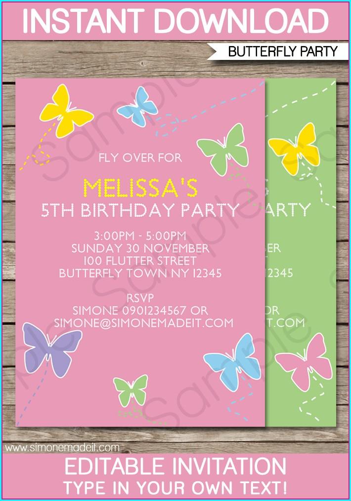 Pdf Editable Birthday Invitations Templates Free