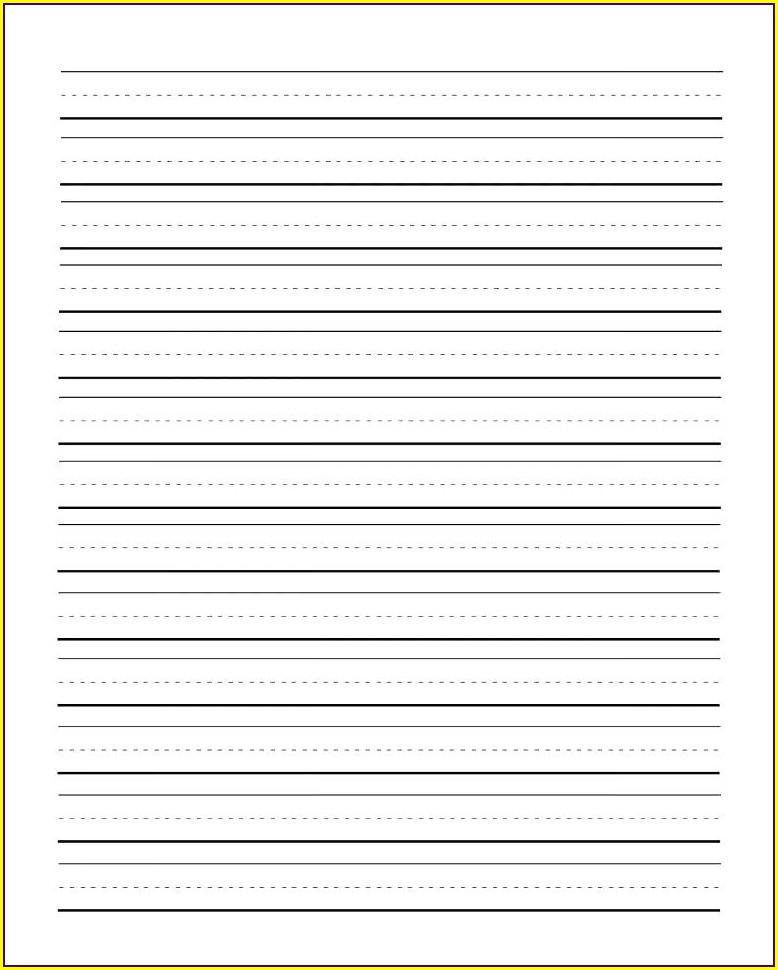 Pdf Printable Preschool Writing Paper