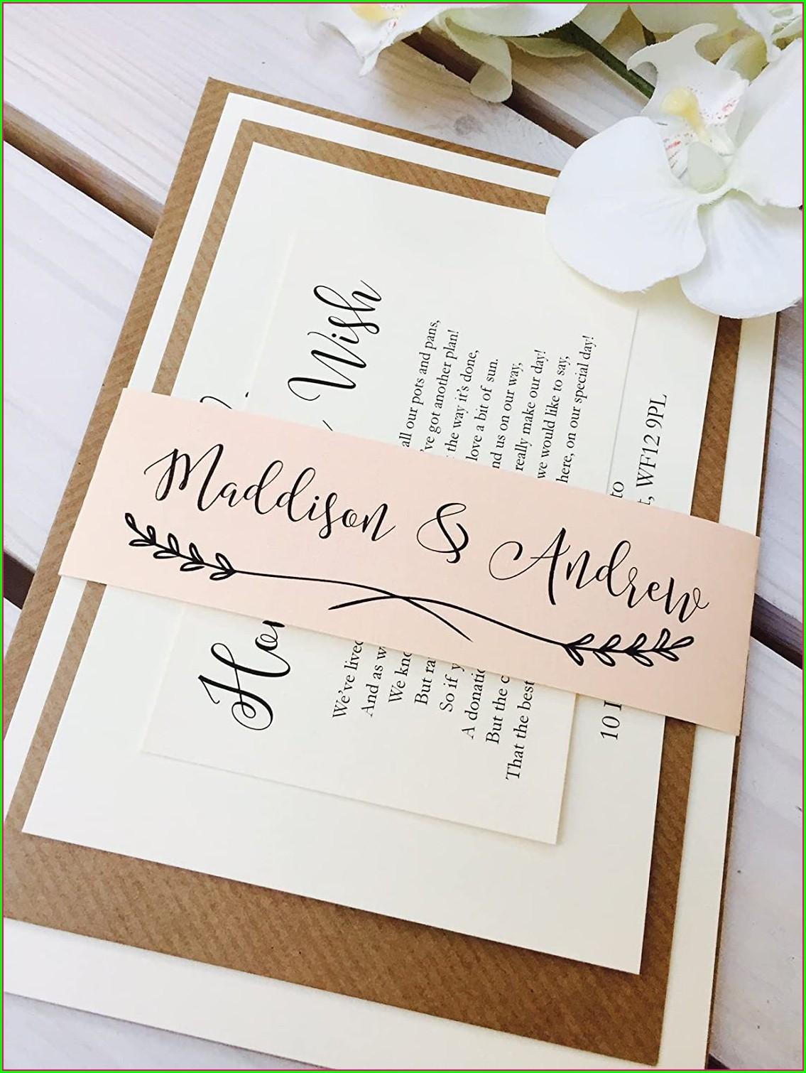 Peach Wedding Invitation Sample
