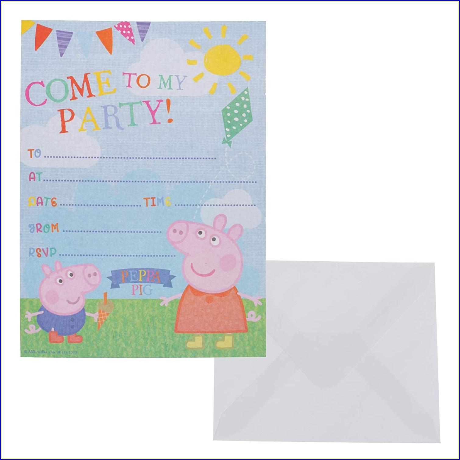 Peppa Pig Invitations Online