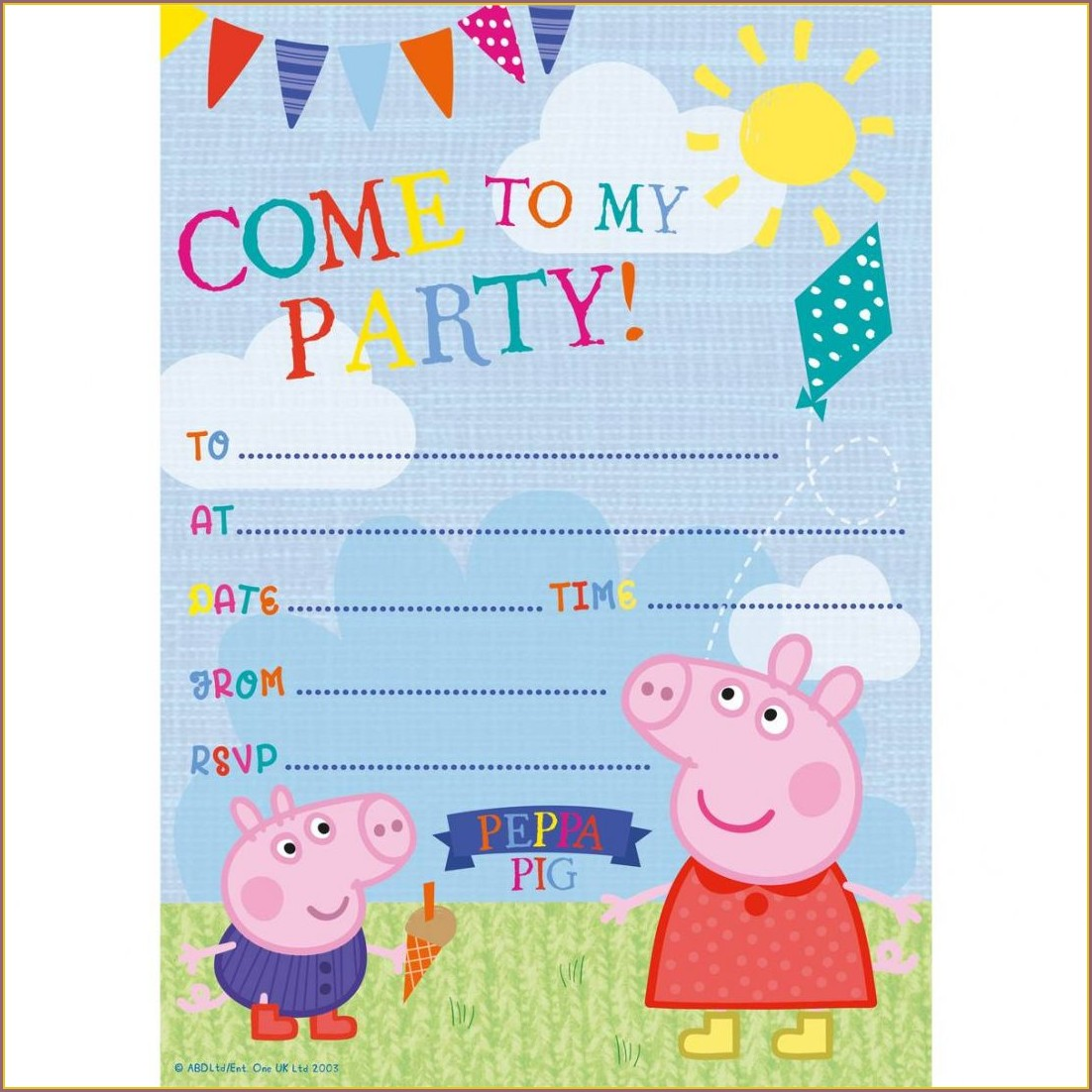 Peppa Pig Invitations Zazzle