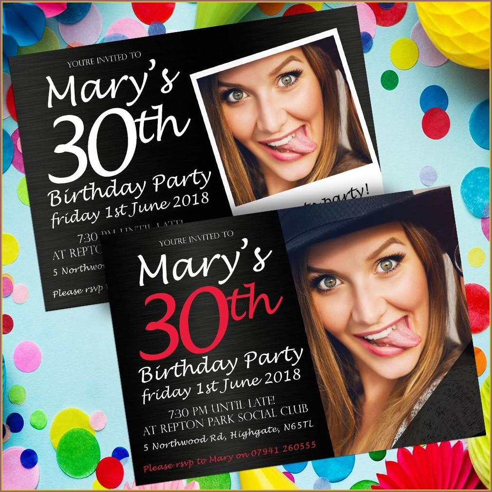 Personalised Birthday Invitations Free
