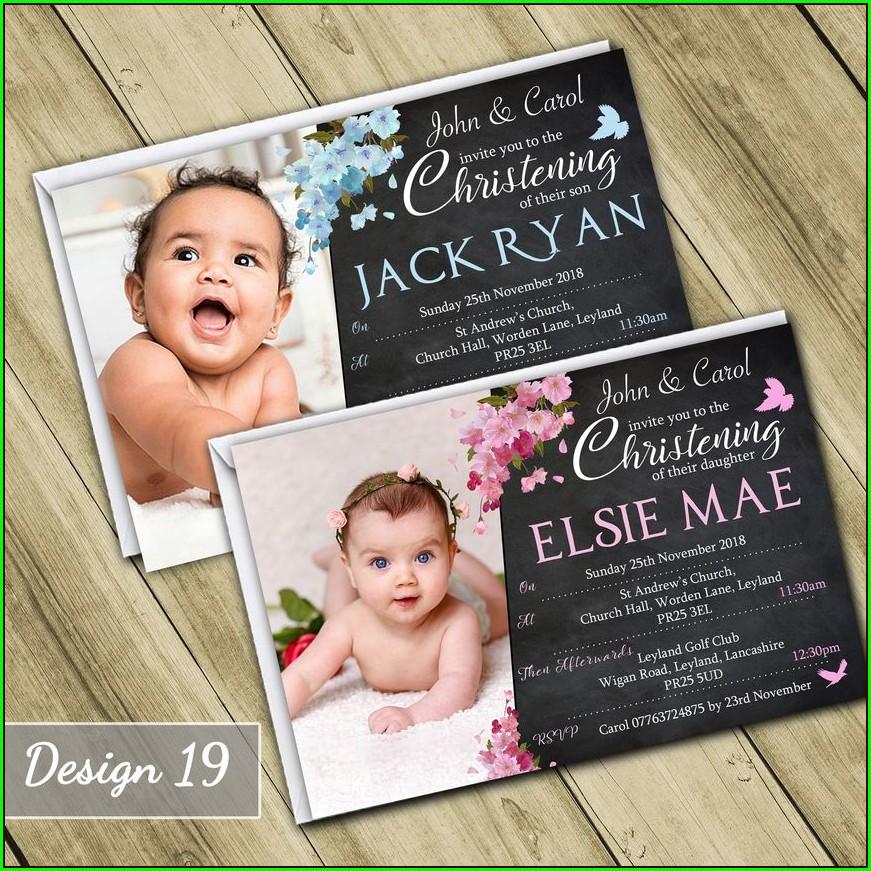 Personalised Christening Invites Ebay
