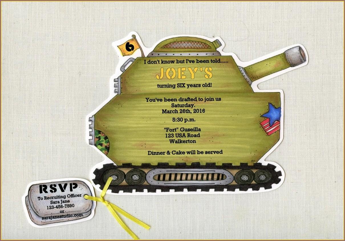 Personalized Army Birthday Invitations