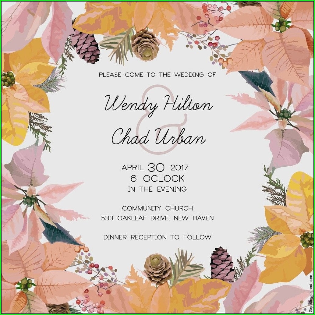 Pink And Gold Free Printable Invitations