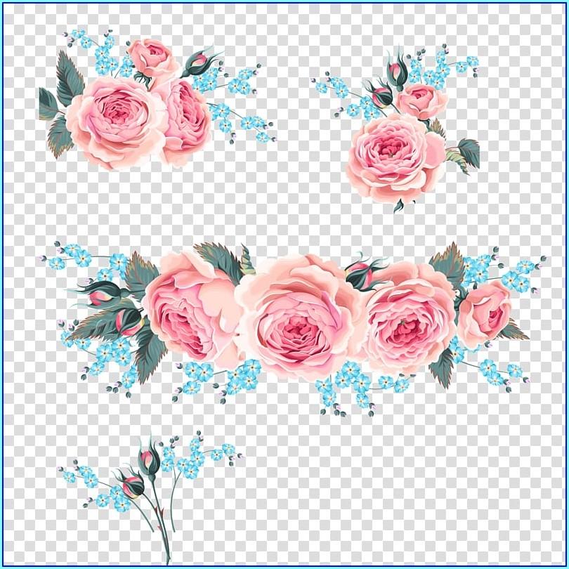 Pink Flower Invitation Background