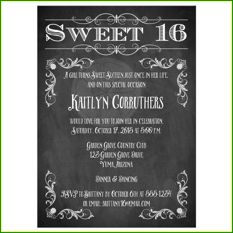 Pinterest Birthday Invitations Templates