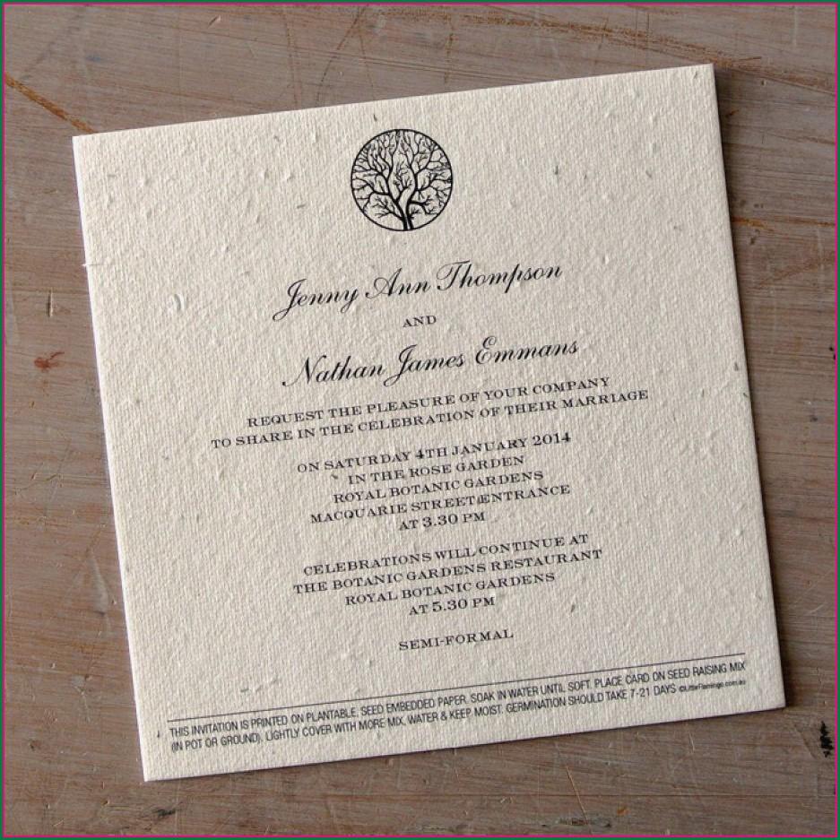 Plantable Wedding Invitations Australia