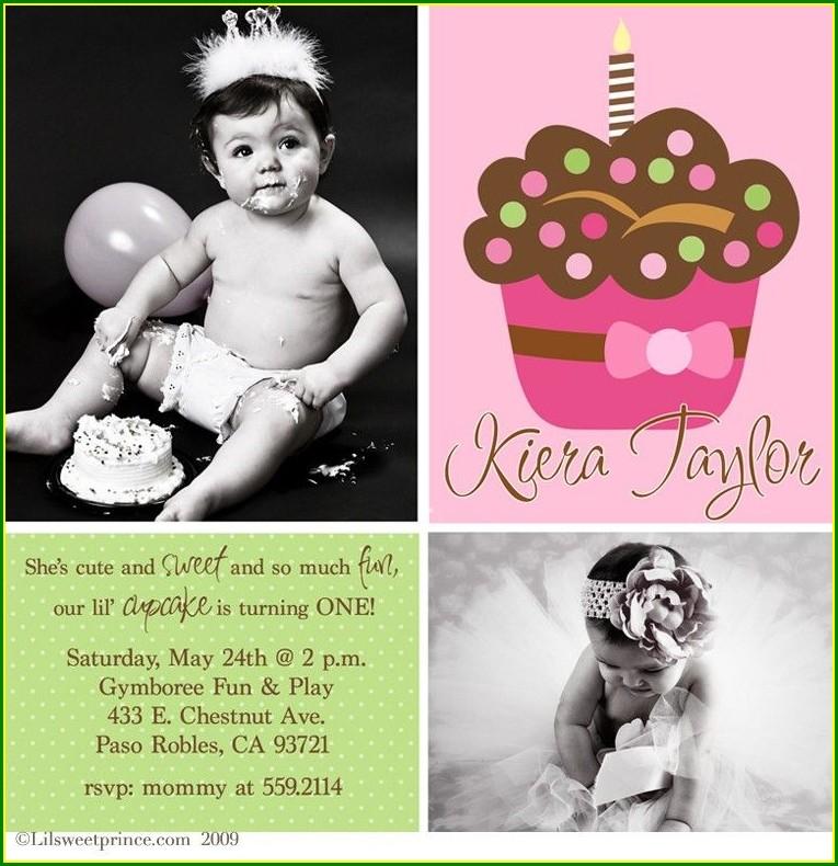 Polka Dot First Birthday Invitations