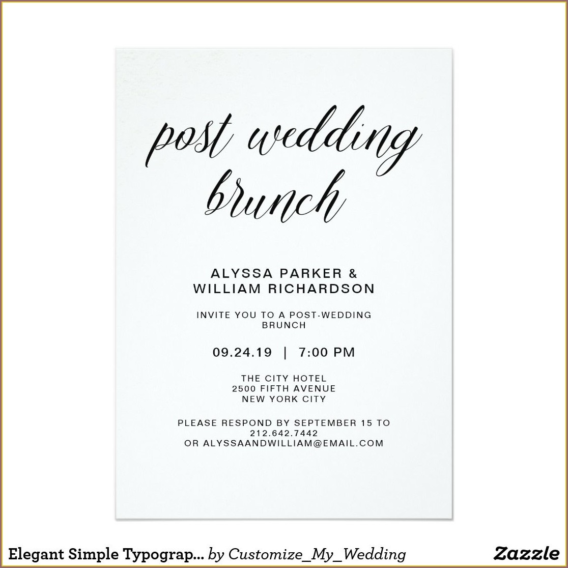 Post Wedding Brunch Invitation Wording
