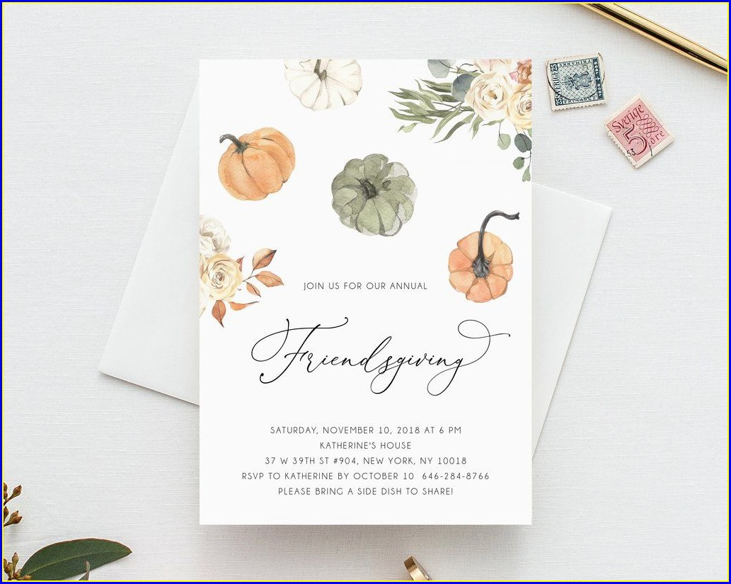Potluck Invitation Template Editable