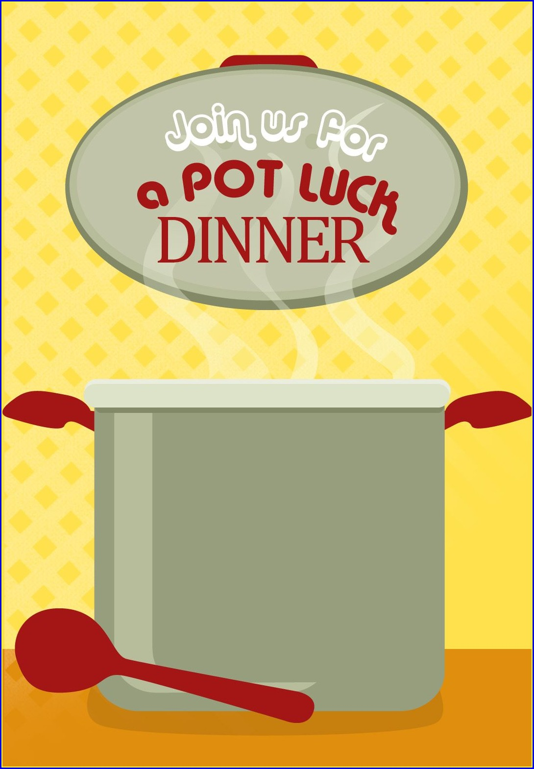 Potluck Invitation Template Free