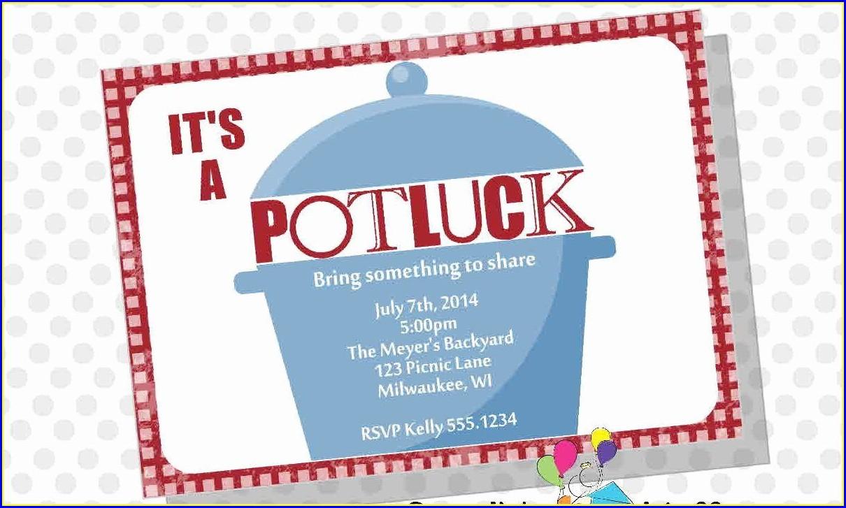 Potluck Lunch Invitation Template