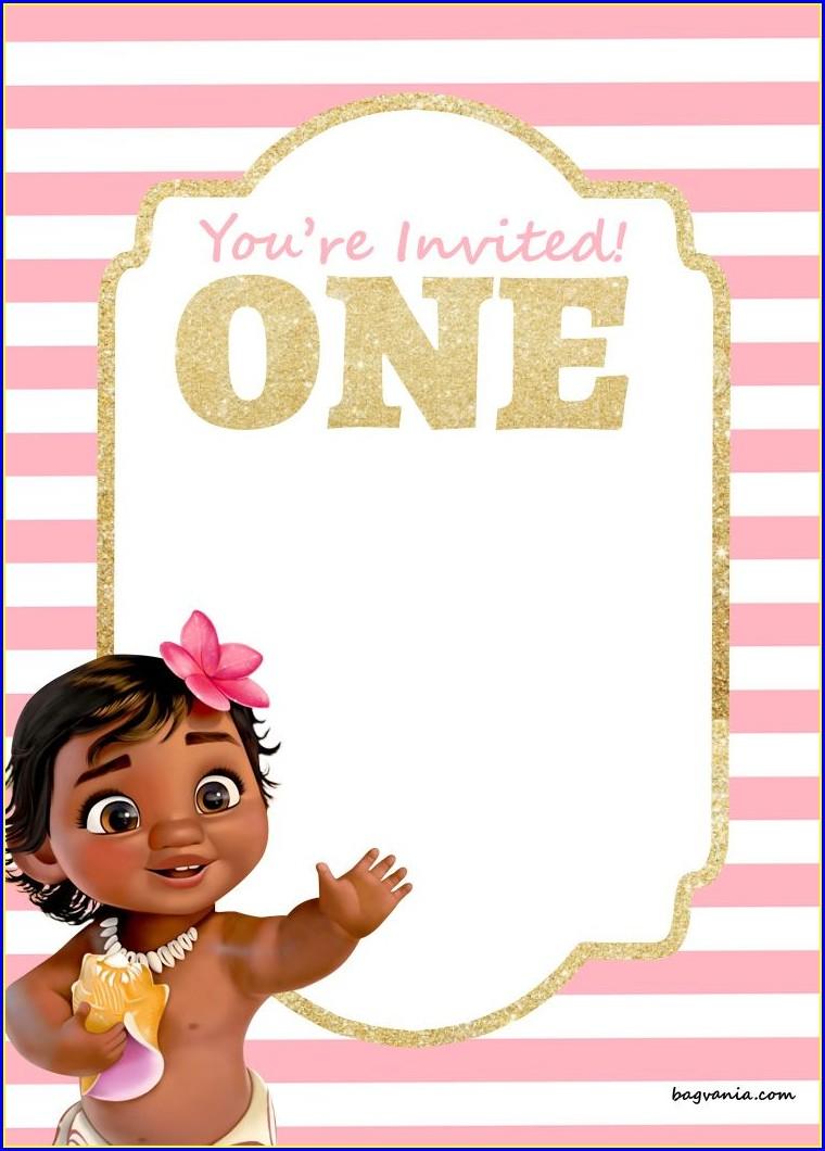 Princess 1st Birthday Invitations