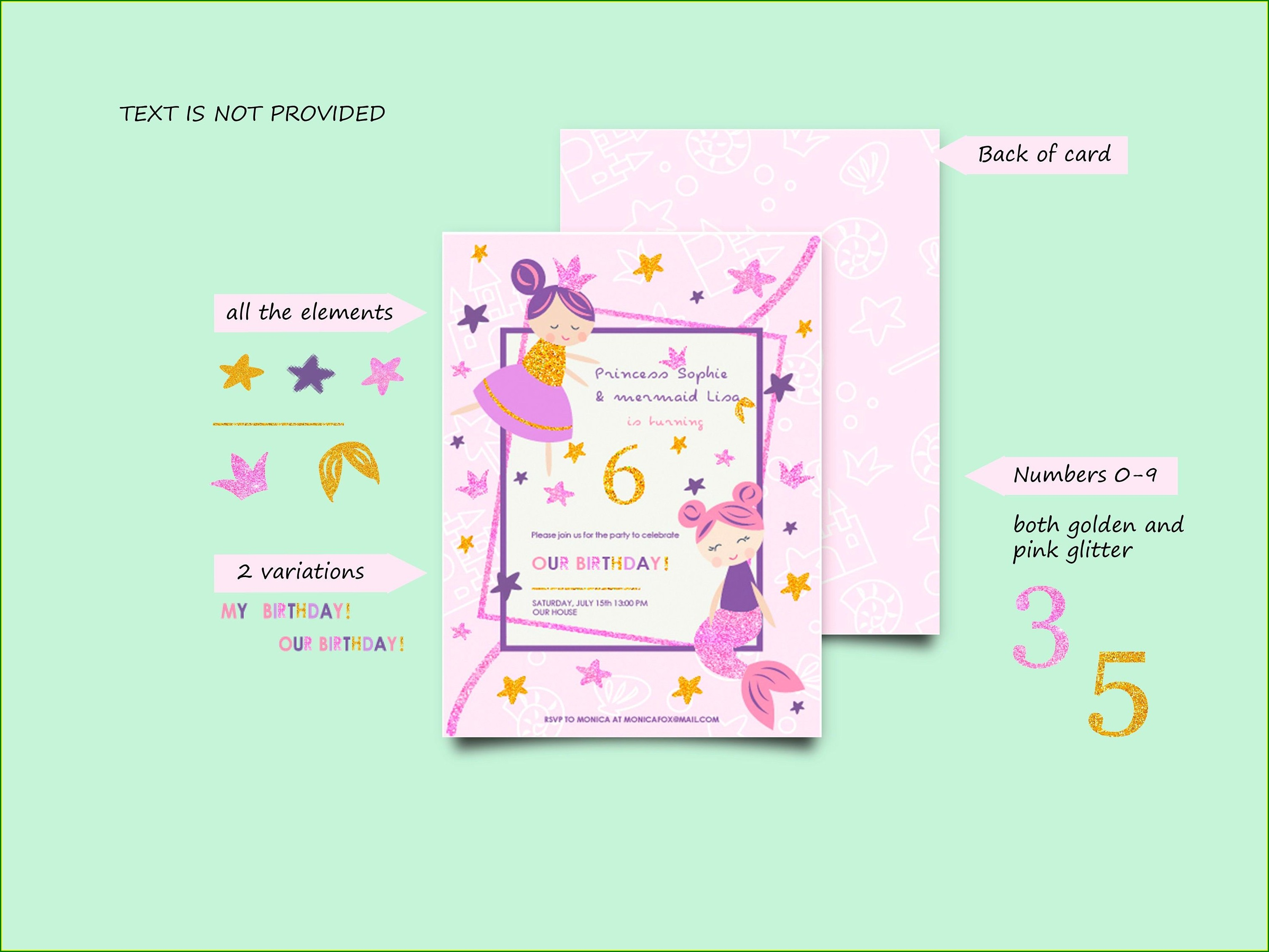 Princess Birthday Invitation Card Background