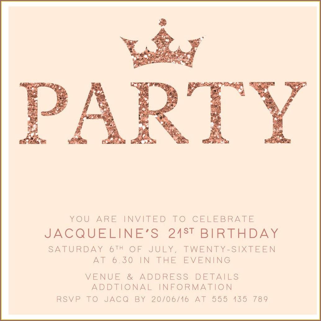 Printable 21st Birthday Invitations Template