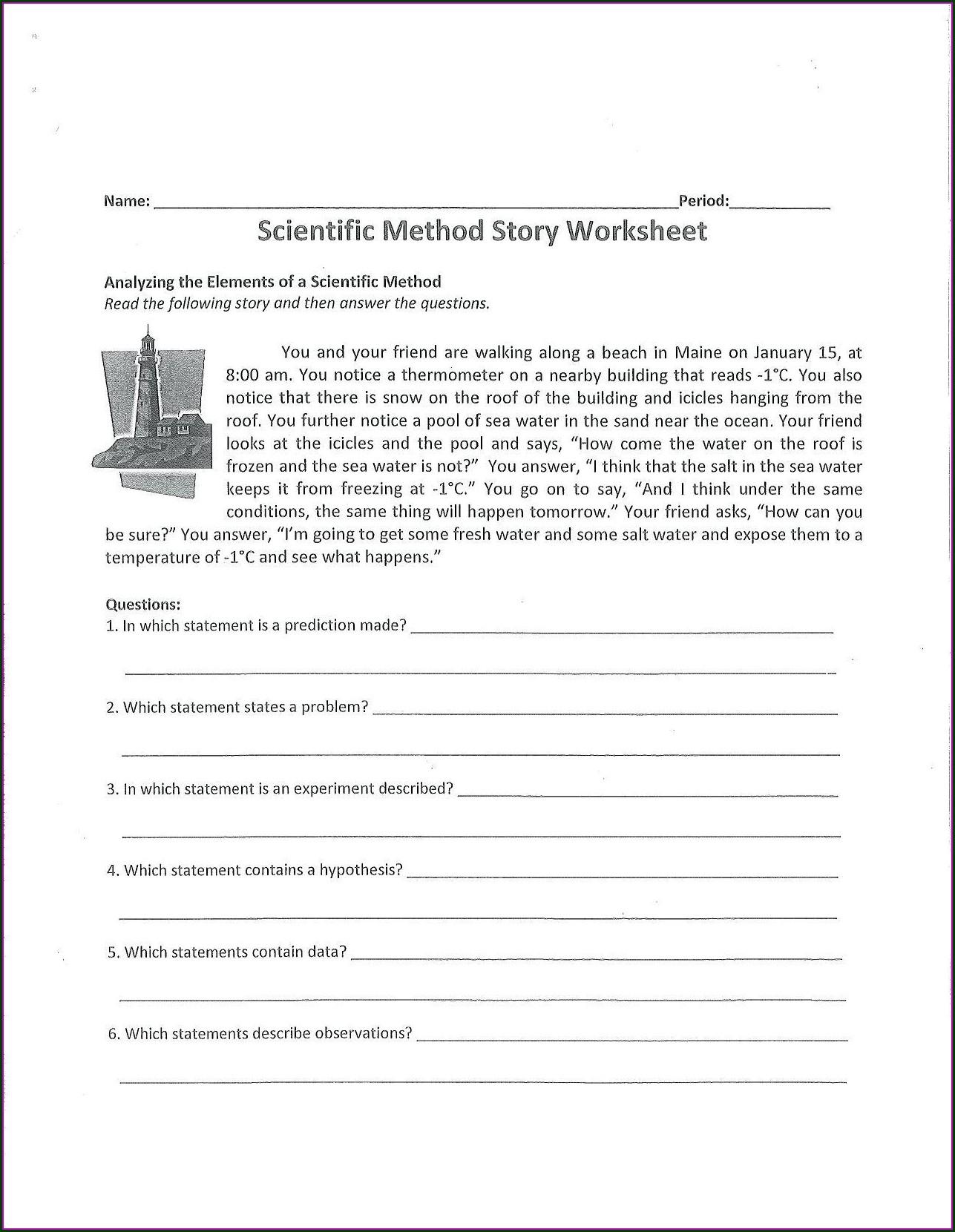 Printable 5th Grade Scientific Method Worksheet