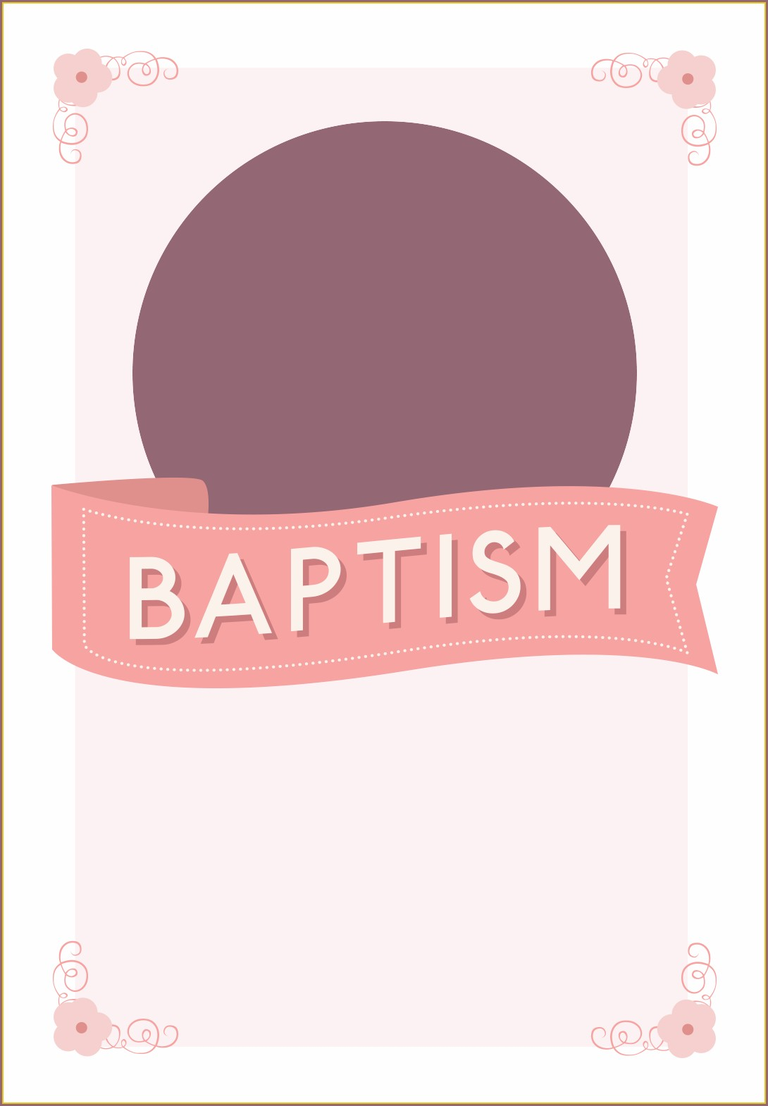 Printable Baptism Invitation Blank Templates For Girl