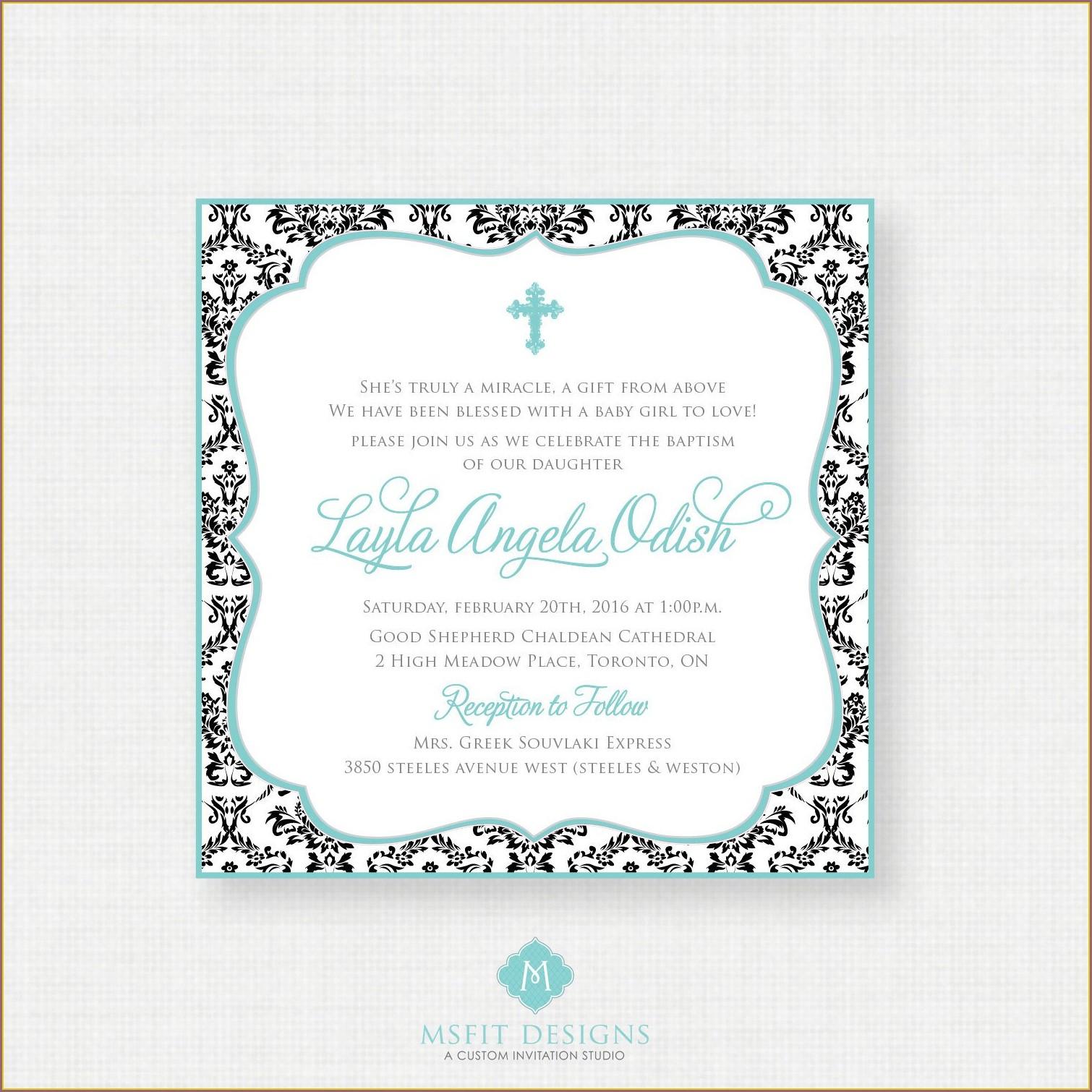 Printable Baptism Invitations In Spanish