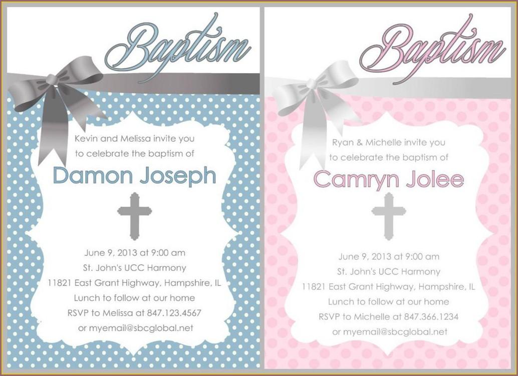 Printable Baptismal Invitation Layout