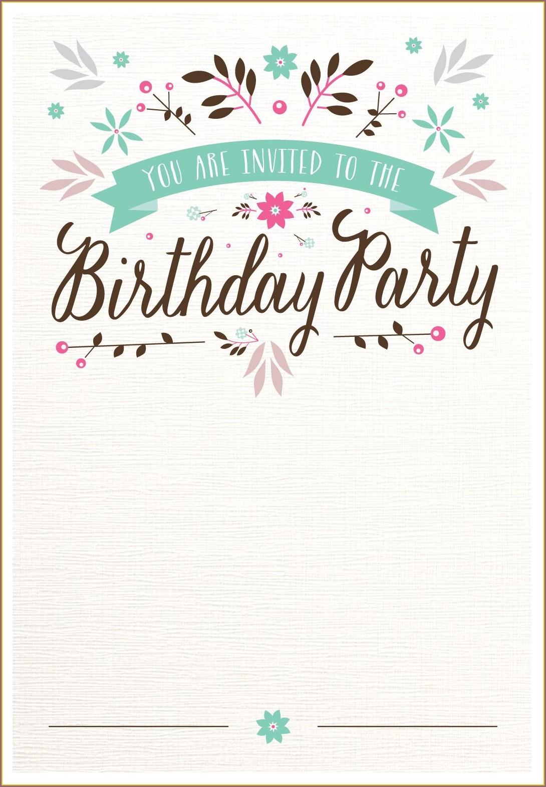 Printable Birthday Invitation Cards With Photos
