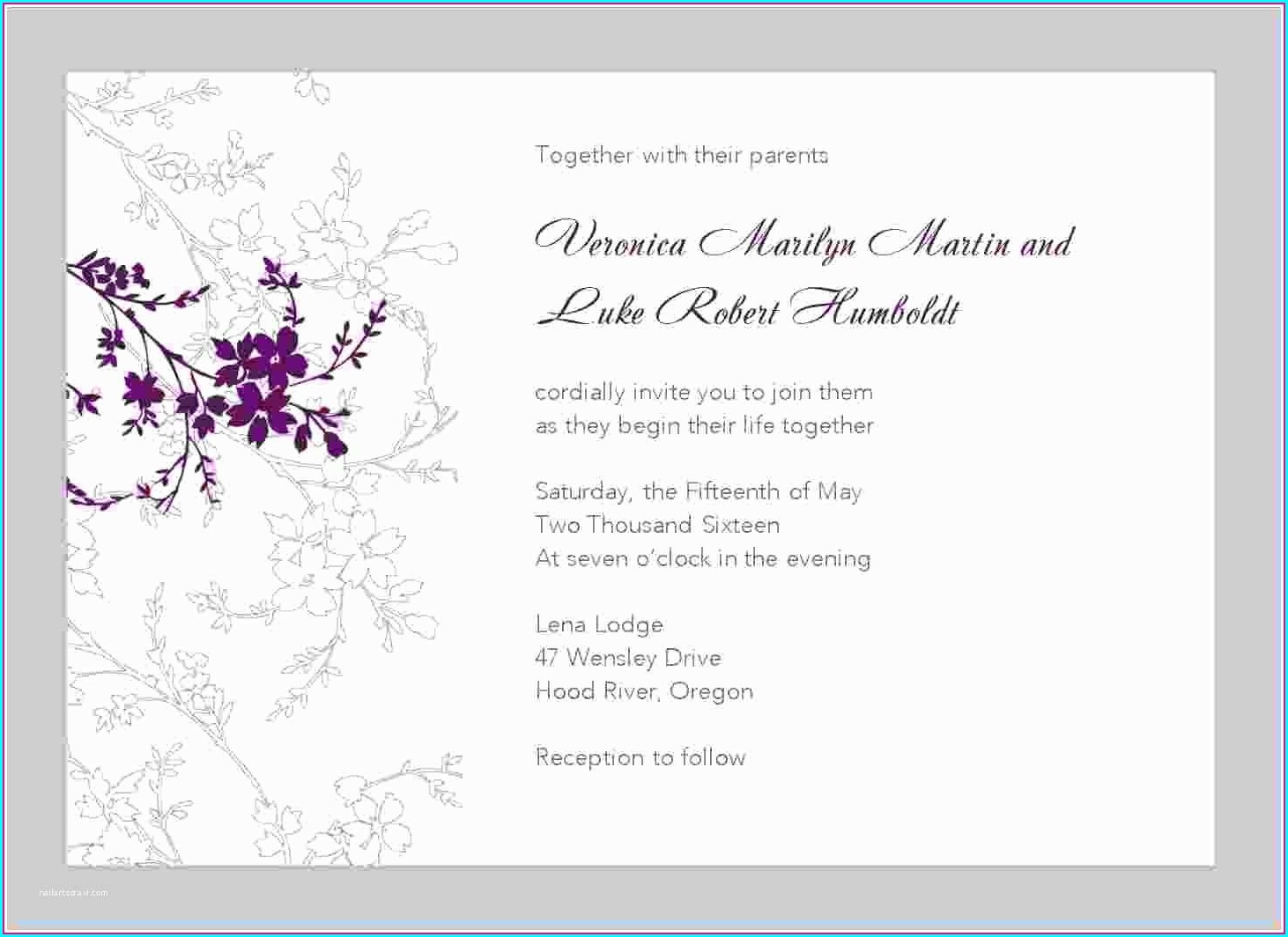 Printable Editable Free Wedding Invitation Templates For Word