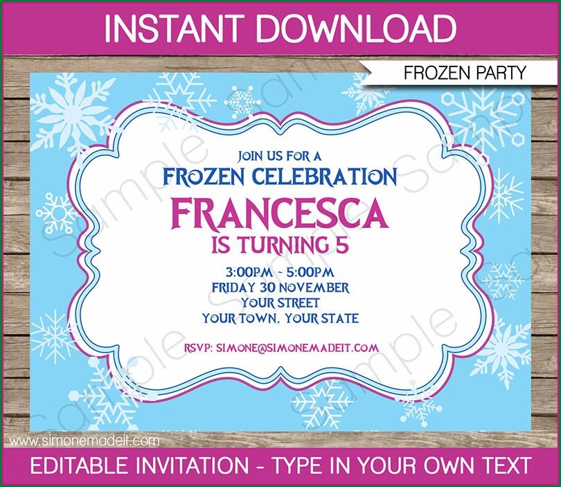 Printable Editable Frozen Invitation Template
