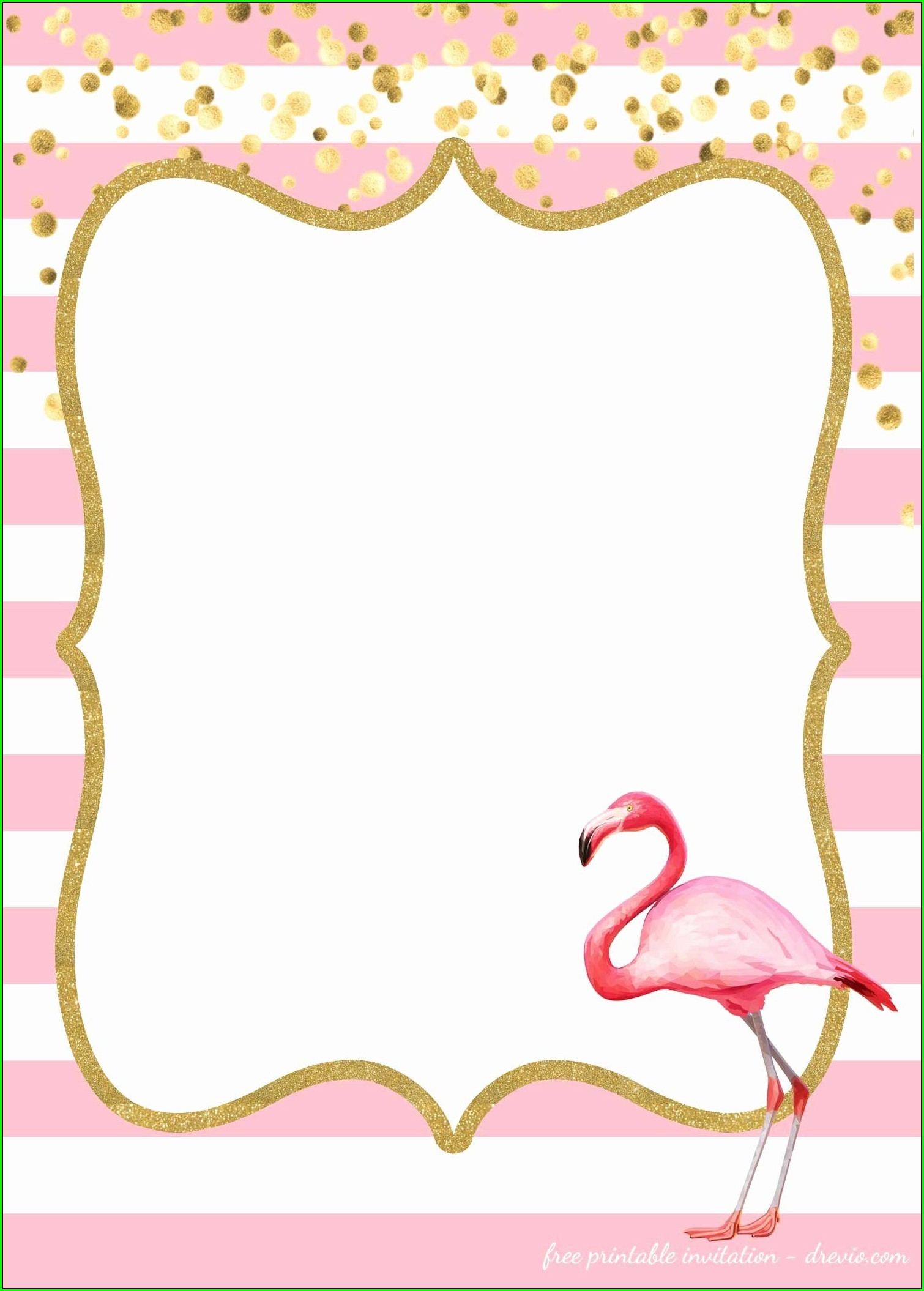 Printable Flamingo Invitation Template Free