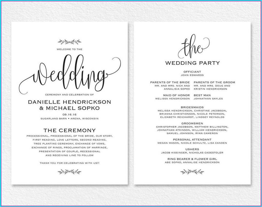 Printable Free Wedding Invitation Templates