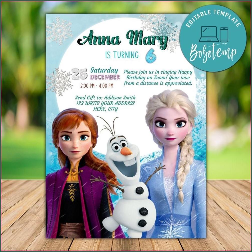 Printable Frozen 2 Invitation Template